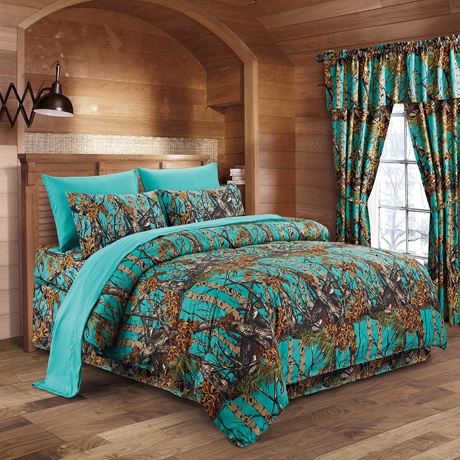 Image of: Blue Camouflage Army Print Brand New In Bag 3 Piece Twin Size Comforter Set Fibsol Com