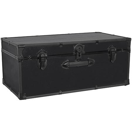 "Seward Trunk 30"" Footlocker Trunk with Black Hardware"