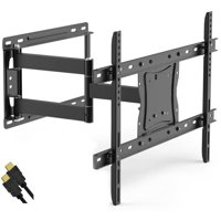 """ONN Full-Motion Articulating, Tilt/Swivel, Universal Wall Mount Kit for 19"""" to 84"""" TVs with HDMI Cable (ONA16TM014E)"""