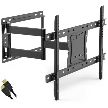 "ONN Full-Motion Articulating, Tilt/Swivel, Universal Wall Mount Kit for 19"" to 84"" TVs with HDMI Cable (ONA16TM014E)"