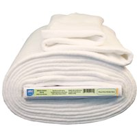 "Pellon White Cotton Batting with Stabilizing Scrim Binder, 96"" Wide, 9 Yard Bolt"
