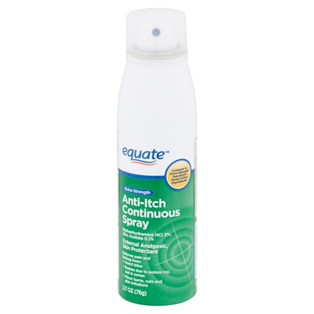 Equate Extra Strength Anti-Itch Continuous Spray, 2.7 oz Anti Fog Solution Spray