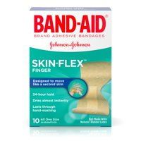 Band-Aid Brand Skin-Flex Finger Adhesive Bandages with Second Skin Feeling, Finger Bandages, 10 ct