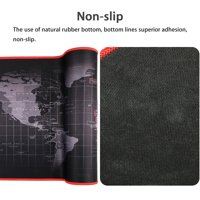 "EEEKit Extended XXL Gaming Mouse Pad Portable Large Desk Pad Non-slip Rubber Base (World Map 31.5""x11.8"")"
