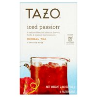 (3 Boxes) Tazo Iced passion Tea Bag Herbal Tea 6ct