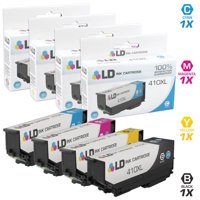 LD Remanufactured Epson 410 / 410XL / T410 Set of 4 High Yield Ink Cartridges (1 Black, 1 Cyan, 1 Magenta & 1 Yellow) for use in Expression XP-530, XP-630, XP-635, XP-640 and XP-830