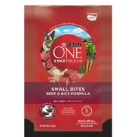 Purina ONE SmartBlend Natural Small Bites Beef & Rice Formula Adult Dry Dog Food - 8 lb. Bag