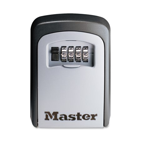 Master Lock Lock Box 5401D Set Your Own Combination Wall Mount Key Safe, 3-1/4 in. - Loc Lock