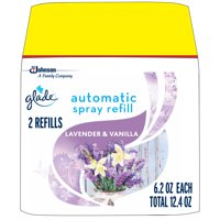 Glade Automatic Spray Refill Lavender & Vanilla, Fits in Holder For Up to 60 Days of Freshness, 6.2 oz, Pack of 2