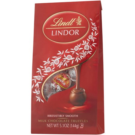 Lindt Lindor Milk Chocolate Truffles, 5.1 (Chocolate Champagne Truffles)