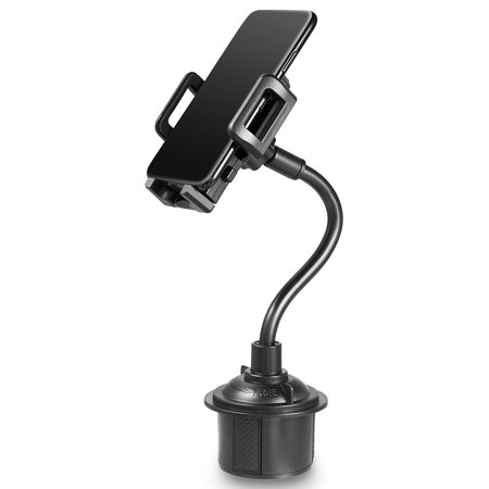 Luxmo Universal Adjustable Quick Release And Rotatable Cup Holder for GPS Cell Phone Car Mount -Black