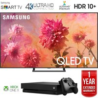 """Samsung QN75Q9FNA 75"""" Q9FN QLED Smart 4K UHD TV (2018 Model) with Microsoft Xbox One X 1TB Console and 1 Year Extended Warranty Bundle"""