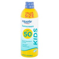 Equate Kids Broad Spectrum Sunscreen Spray, Value Size, SPF 50, 9.1 oz