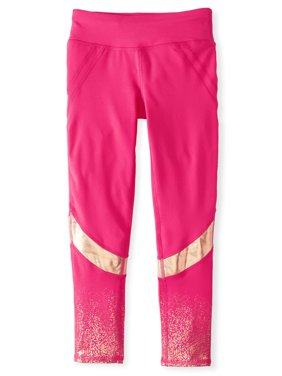 Foiled Performance Colorblock Legging (Little Girls & Big Girls)