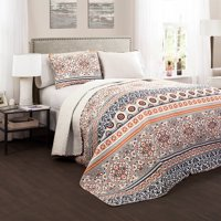 Nesco Quilt Navy/Coral 3-Piece Set, King
