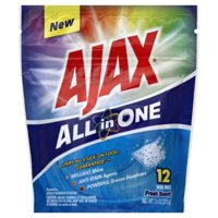 Ajax All in One Fresh Scent Dish Pacs Dish Detergent, 12 count, 7.6 oz