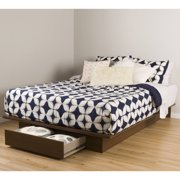 """South Shore Primo Full/Queen Platform Bed (54/60"""") with Drawer, Multiple Finishes"""
