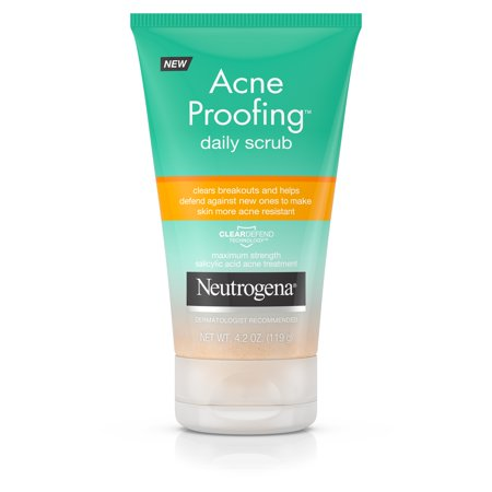 Neutrogena Acne Proofing Exfoliating Facial Scrub, 4.2 oz
