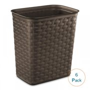 Sterilite 3.4 Gal Weave Wastebasket, Espresso (Available in Case of 6 or Single Unit)