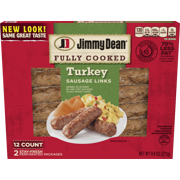Jimmy Dean Fully Cooked Turkey Sausage Links, 9.6 Oz., 12 Count