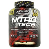 Muscletech Nitro Tech Whey Isolate Protein Powder, Vanilla, 30g Protein, 4 Lb