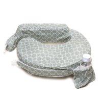 My Brest Friend Deluxe Nursing Pillow, Flower Key Grey
