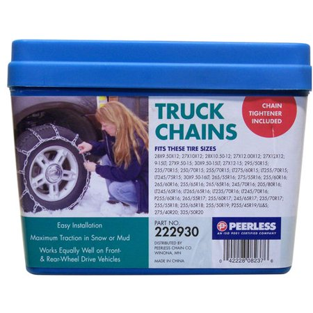 Peerless Truck Tire Chains With Rubber Tighteners 222930 Walmart Com
