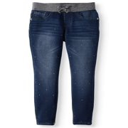 Multicolor Bling Rib Waist Knit Denim Jegging (Little Girls & Big Girls)