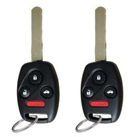 2pcs for 2003 2004 2005 2006 2007 Honda Accord Keyless Entry Remote Car Key Fob OUCG8D-380H-A with 46 Chip