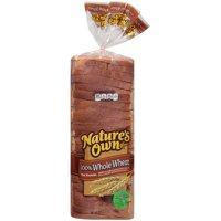 Nature's Own® 100% Whole Wheat Bread 20 oz. Bag