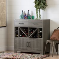 Vietti Bar Cabinet with Bottle Storage and Drawers, Multiple Finishes