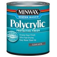 Minwax Polycrylic Clear Satin 1-Qt