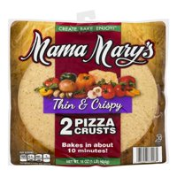 (2 Pack) Mama Mary`s 12 inch Thin and Crispy Crust 2ct
