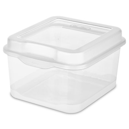 Sterilite Fliptop Box, Clear (Set of 12) - Clear Pillow Boxes