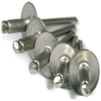 "POP Rivet 612LF Large Flange Stainless Steel - 3/16"" x 3/4"" Grip (.626 - .750) Qty-250"