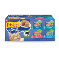 Friskies Seafood Adult Wet Cat Food Variety Pack - (32) 5.5 oz. Cans