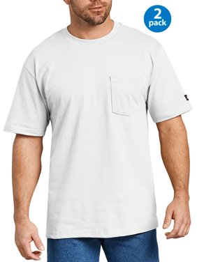 Big Men's Short Sleeve Heavy Weight Pocket T-Shirt, 2-Pack