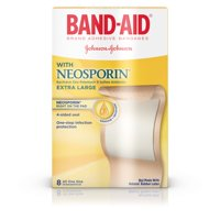 Band-Aid Brand Bandages with Neosporin Antibiotic, Extra Large, 8 ct