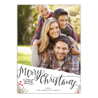 Merry Christmas Happy New Year - 5x7 Personalized Holiday Card