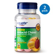 Equate Extra Strength Antacid Assorted Fruit Chewables, 750 mg, 60 Ct