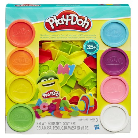 Play-Doh Numbers, Letters 'N Fun Set with 8 Cans of Dough & 35+ Tools (Playdough Mats Halloween)