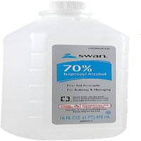 Swan Rubbing Alcohol, 70% 16 oz