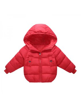 1-5Years Toddler Baby Boy Girl Winter Warm Cotton Padded Hooded Coat Jacket Outwear
