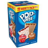 Kellogg's Pop-Tarts Frosted Brown Sugar Cinnamon &Frosted Strawberry Variety Pack 86 Oz 48 Ct