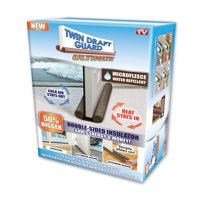 As Seen on TV Twin Draft Door Guard Ultimate Double Sided Insulator
