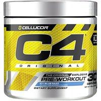 Cellucor C4 Original Pre Workout Powder, Icy Blue Razz, 30 Servings