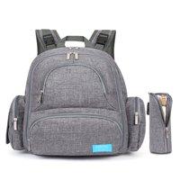 FOSTAK Baby Backpack Diaper Big Capacity Diaper Bag for Moms Baby Diaper Bag(Gray)