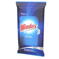 (2 Pack) Windex Glass and Surface Wipes, Original, 28 ct