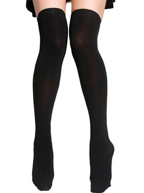 4c9708e537f Product Image Womens Full Figure Plus Size Nylon Opaque Thigh High  Stockings Tights