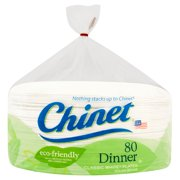 """Chinet Classic White Dinner Plates, 10 3/8"""", 80 Count"""